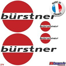 4 Stickers Autocollants Bürstner  - Camping car Caravane -274