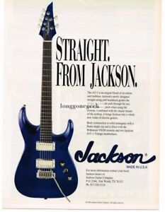 1996 JACKSON AT-1 Electric Guitar Purple Flame Maple Top Vintage Print Ad