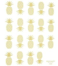 2 Sheets Gold Foil Pineapple Stickers Papercraft Envelope Seals Wedding Cards