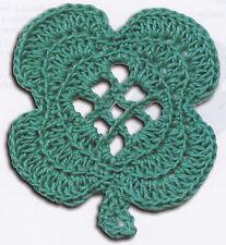 Crochet Pattern ~ FOUR LEAF CLOVER St Patricks ~ Instructions