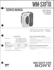 Sony Original Service Manual für WM - SXF 10