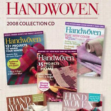 4 Issues on CD: HANDWOVEN MAGAZINE 2008 Weaving Fabric