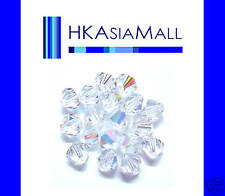 25 Swarovski Crystal Beads 5301 CRYSTAL CLEAR AB 5mm