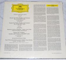 OISTRAKH DAVID IGOR BACH VIOLIN CONCERTOS DGG 138 820 SLPM VG++ LP