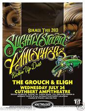 Slightly Stoopid / Atmosphere / Kickin' Up Dust 2013 Eugene Concert Tour Poster