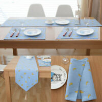 Cotton Linen Table Runner Banquet Party Decor Dinning Placemat Table Cloth Cover
