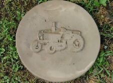 Round Tractor Concrete or Plaster Cement Garden Stepping Stone Mold 1075