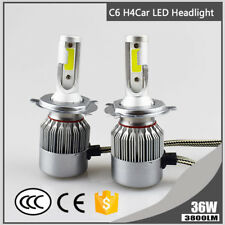 1x H4 COB LED Light Conversion Headlight Hi/Lo Beam Car Replace Bulb 36W 3800LM