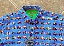Luchiano Visconti Shirt Mens S Mini Cooper Pin Up Girl Print Ltd Ed S/S NWT FAB!