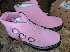 Dr. Martens X Lazy Oaf Pink Suede Buckle Boots Size 10