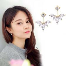 Fashion Rhinestone Women Crystal Ear Stud Flower Earrings Jewelry Gold