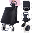 Black Larg Capacity Light Weight Wheel Shopping Trolley Waterproof Push Cart Bag