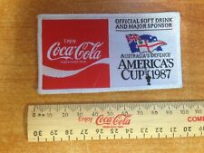 Vintage Coca Cola Coke America's Cup Australia's Defence Cloth Patch