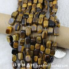 """Natural Rectangle Tiger Eye Beads Loose Gemstone Beads for Jewelry Making 15"""""""