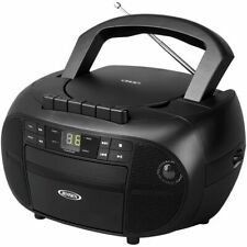 Jensen Portable Stereo Cassette Recorder & Cd Player With Am And Fm Radio Je
