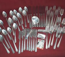 Antique Rogers Oneida Flatware Set SURF CLUB 1938 Silverplate 48 PIECES Art Deco