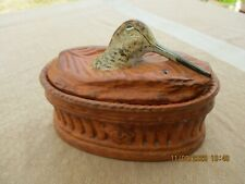 ANTIQUE FRENCH PILLIVUYT COVERED TUREEN PATE EN CROUTE WOODCOCK PORCELAIN DISH