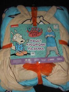Rockos Modern Life Nickelodeon Hoodie Kigurumi 1Pc Plush Costume Pajamas Cosplay