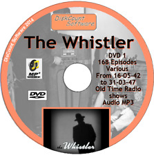 The Whistler ,  Mystery OTR -  DVD1 - 168 Old Time Radio Shows -   MP3 DVD