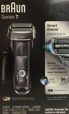 BRAUN 7865cc Series 7 Rechargeable Shaver with Clean & Renew Station NEW