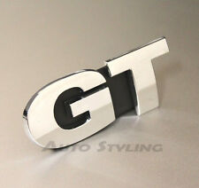 GT Grill Badge Emblem VW Golf Scirocco Passat Polo CC Chrome Sport MK 5 6 7 19g