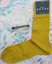 Falke Mens Cotton Socks Tiago Anti-Slip Sole Deep Yellow Size UK 8.5-9.5 RRP £14