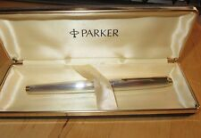 Stylo plume Parker 75 Vendome argent silver godron
