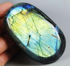 220g Amazing Royal Blue/Yellow Flash Labradorite Spectrolite Freeform Stone