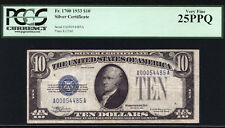 """$10 1933 Silver Certificate FR 1700 PCGS 25 PPQ  """"KING OF SILVER CERTIFICATES"""""""