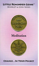 Meditation Booklet with 1 1/4″ Bronze Metal Reminder Coin