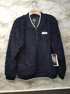 '47 Brand NFL Womens Seattle Seahawks Zip Up Fleece Jacket NWT $70 Small