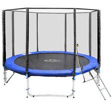 Trampoline de jardin 305 cm set complet avec filet sécurité et échelle