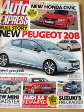 AUTO EXPRESS MAGAZINE NOV 2011 PEUGEOT 208 HONDA CIVIC MINI ROADSTER AUDI A4 SUZ
