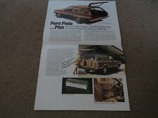 1972 FORD PINTO STATION WAGON SQUIRE WAGONS ORIGINAL DEALER SALES BROCHURE