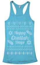 Happy Challah Days Ugly Sweater Women's Racerback Tank Top Hanukkah Gift