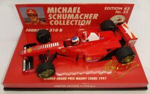 F1 1/43 FERRARI F310B SCHUMACHER GP MAGNY COURS 1997 MINICHAMPS MSC #35