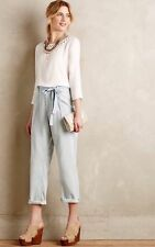 NWT CURRENT/ELLIOTT THE NEWSBOY CHAMBRAY PAPER BAG TROUSERS JEANS Sz31 $238.00