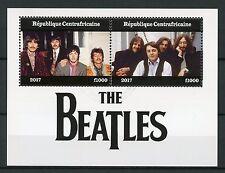 Central African Rep 2017 CTO The Beatles John Lennon 2v M/S Music Stamps