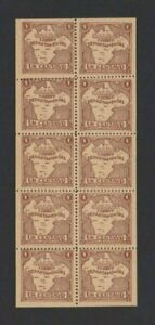 Colombia CALDAS Local 1 cent Sheet of 10