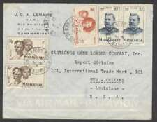 France Madagascar To USA Airmail Cover 1953 w 5 Stamps