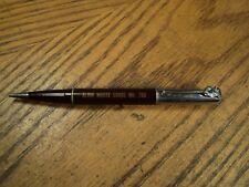 Vintage Mechanical Pencil  Elgin Moose Lodge No. 799   Moose Head Pocket Clip