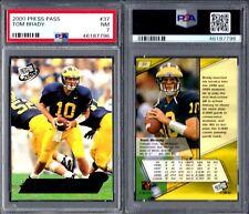 PSA 7 2000 Press Pass #37 Tom Brady RC New England Patriots G00 2721