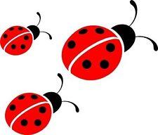 3 Ladybirds Printed Vinyl Stickers decal,car,window,van