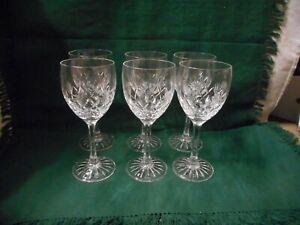 set of 6 Edinburgh crystal wine glasses, 17.4 cm. in height