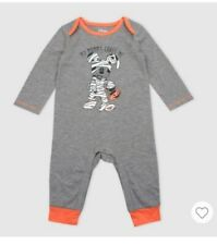 (2B4) Disney Baby Mickey Mouse Mummy Halloween Long Sleeve Romper 3/6M New