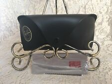 Ray Ban Sunglasses Black Case Pouch Snap Closure with Belt Loop Cleaning Cloth