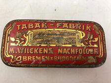 Antike Zigaretten Dose Tabak Fabrik M. Wilckens Nachfolger Bremen Burgdamm Rar