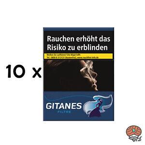 Gitanes Filtre Zigaretten mit Filter Stange 10x20 Stück