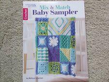 Leisure Arts Crochet MIX AND MATCH BABY SAMPLER pattern book