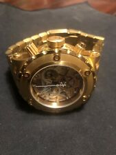 Invicta Reserve Specialty Cosc 18kt Gold Plated Swiss Made Chrono. New Battery!